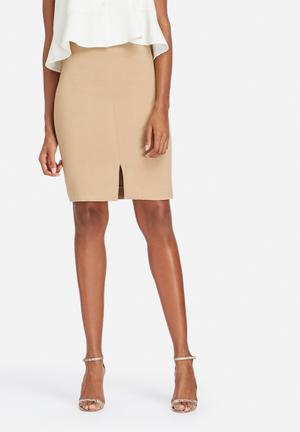 Selected Femme Soma Knee Skirt Camel