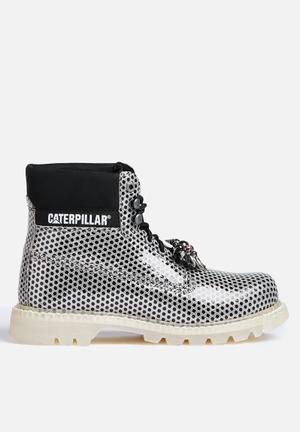 Caterpillar Colorado Boots Silver & Black