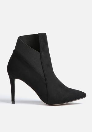 Gino Paoli Elastic Detail Ankle Boot Black
