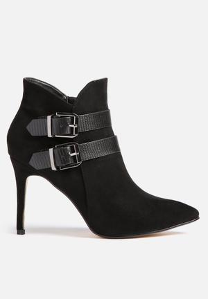 Sissy Boy Buckle Ankle Boot Black