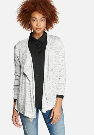 Jacqueline De Yong Week Cardigan Knitwear Light Grey