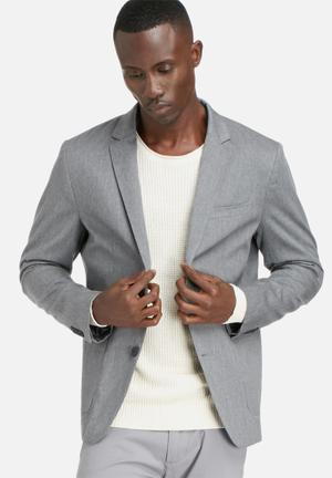 Selected Homme Caleb Blazer Jackets & Coats Grey Melange