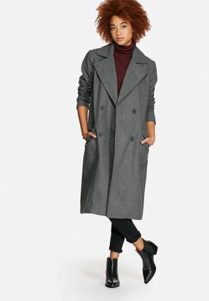 VILA Jackie Coat  Dark Grey