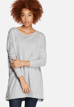 VILA Shim Long Top Blouses Light Grey