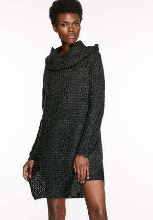VILA Ben Tunic Sweater Knitwear Dark Grey