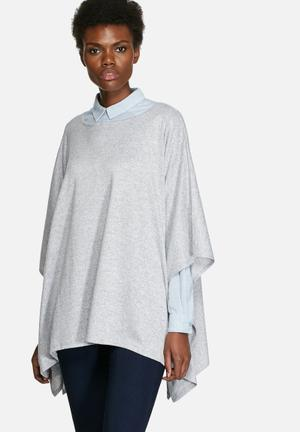 VILA Valli Poncho Blouses Light Grey