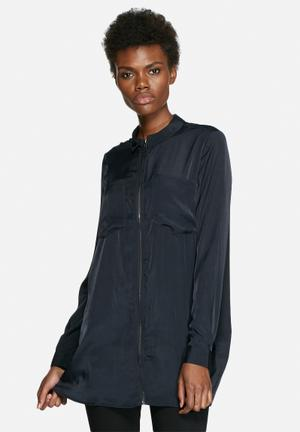 VILA Return Long Shirt Navy