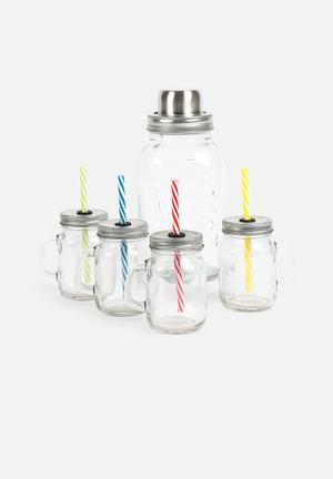Kitchen Craft Jar Cocktail Kit Drinkware & Mugs Glass & Metal