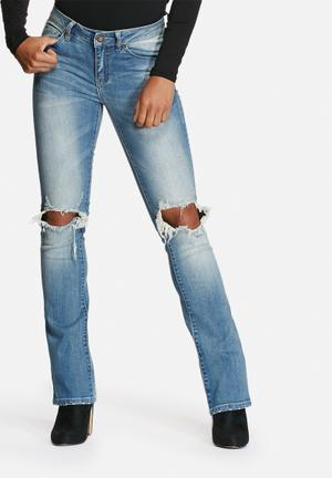 VILA Chill Skinny Bootcut Jeans Medium Blue