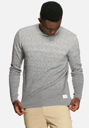 Jack & Jones CORE Ernesto Knit Crew Knitwear Grey