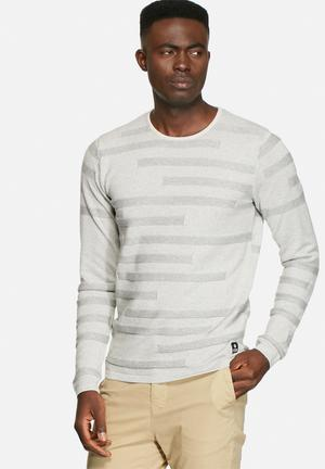 Jack & Jones CORE Klark Knit Crew Knitwear Treated White