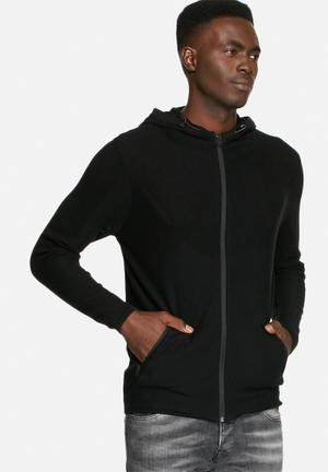 Jack & Jones CORE Jamari Knit Hood Knitwear Black