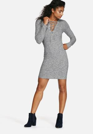 Simona Lace Up Dress
