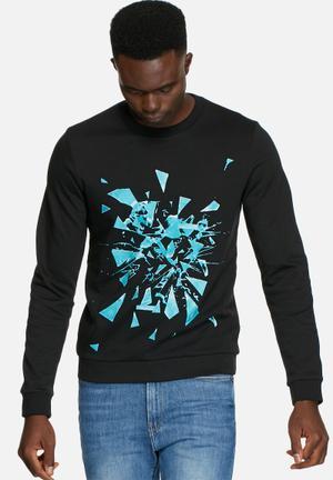 Jack & Jones CORE Broken Sweat Crew Hoodies & Sweatshirts Black