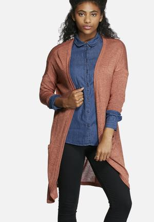 Vero Moda Hallie Meghan Long Cardigan Knitwear Orange