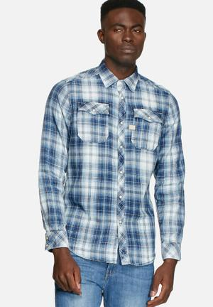 G-Star RAW Landoh Shirt Blue Indigo / White
