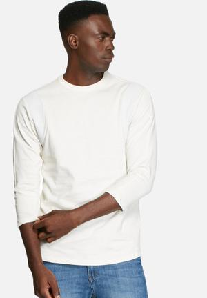 G-Star RAW Leather Trim Ultimate Jersey Hoodies & Sweatshirts Chalk