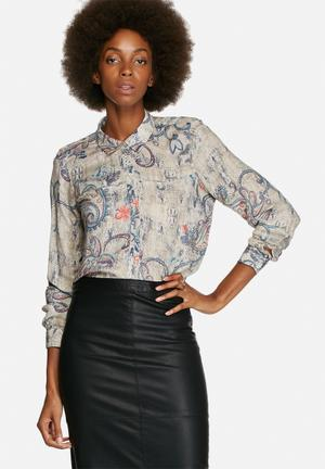 ONLY Radmilla Loose Shirt Multi Coloured