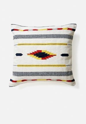 Hertex Fabrics Zazil Sunbeam Cushion Woven Cotton Kelim