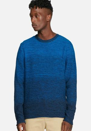 Jack & Jones Originals Basket Knit Crew Knitwear Imperial Blue