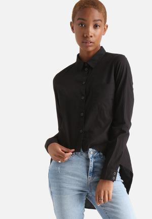 Noisy May Cana High Low Shirt Black