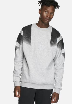 Adidas Originals Training Crew Hoodies & Sweatshirts Grey