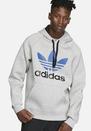 Adidas Originals Adi Trefoil Hoodie Hoodies & Sweatshirts Grey