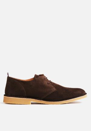 Selected Homme Royce Light Suede Shoe Brown