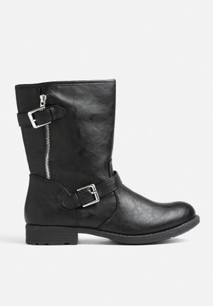 Vero Moda Biker Boot Black