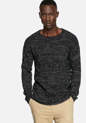 Selected Homme Anton Crew Knitwear Black