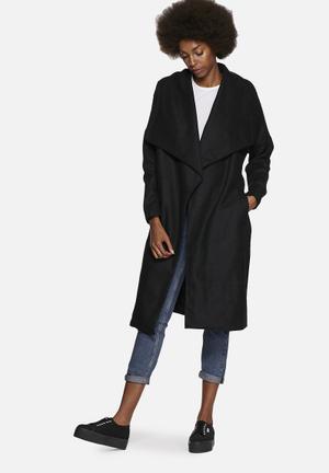 Noisy May Penny Trench Coat Black