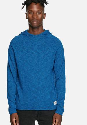 Jack & Jones Originals Mono Knit Hood Knitwear Imperial Blue
