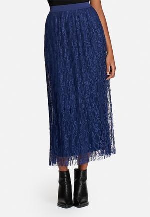Vero Moda Tin Midi Skirt Dark Blue