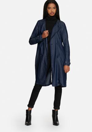Vero Moda Olek Tencel Trench Coat Navy