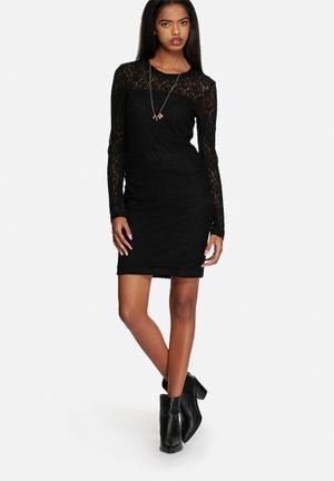 Vero Moda Lykke Lace Dress Occasion Black