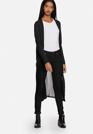 Vero Moda Shandy Mesh Cardigan Knitwear Black