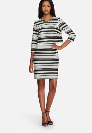 Vero Moda Dorte Dress Formal Black & White