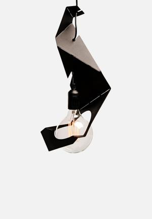 Emerging Creatives Origami Pendant Light Large Lighting Black