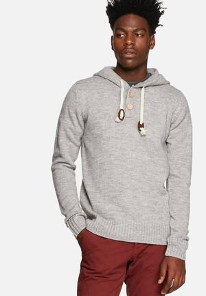 Only & Sons Brayden Knit Hood Knitwear Grey Melange
