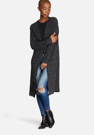ONLY New Hayley Longline Cardigan Knitwear Charcoal