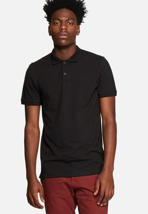 Only & Sons Pique Polo T-Shirts & Vests Black