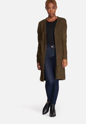 ONLY Zadie Cardigan Knitwear Dark Olive