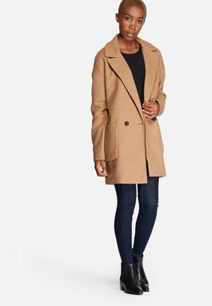 ONLY Covent Wool Coat Camel