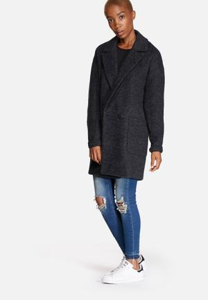 ONLY Covent Wool Coat Dark Grey