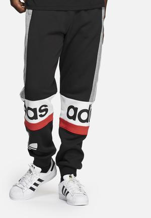 Adidas Originals Blocked Joggers By NIGO Sweatpants & Shorts Black / Grey / Red / White