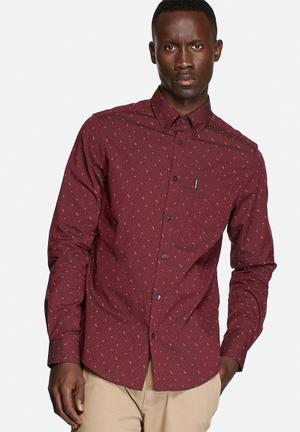 Ben Sherman Long Sleeve Shirt Cranberry Red