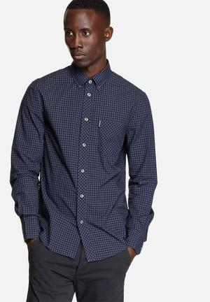 Ben Sherman Classic Check Shirt  Phantom Dark Blue / Black