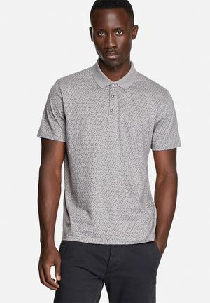 Ben Sherman Polo S/S Shirt T-Shirts & Vests Grey
