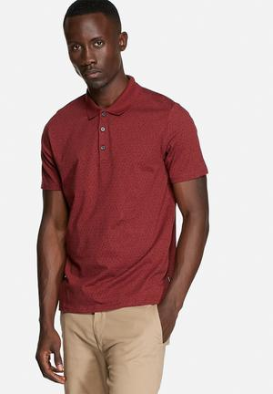Ben Sherman Polo S/S Shirt T-Shirts & Vests Cranberry Red