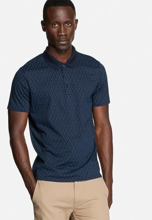 Ben Sherman Polo S/S Shirt T-Shirts & Vests Navy Blazer